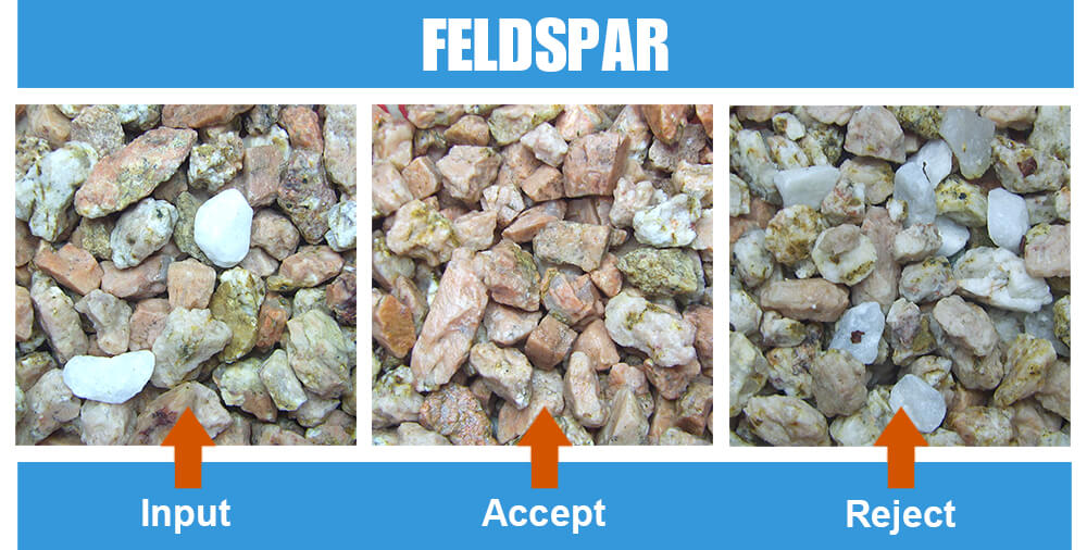 Sorted Sample Feldspar