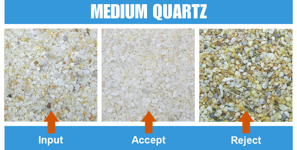 Sorted Sample Medium Quartz