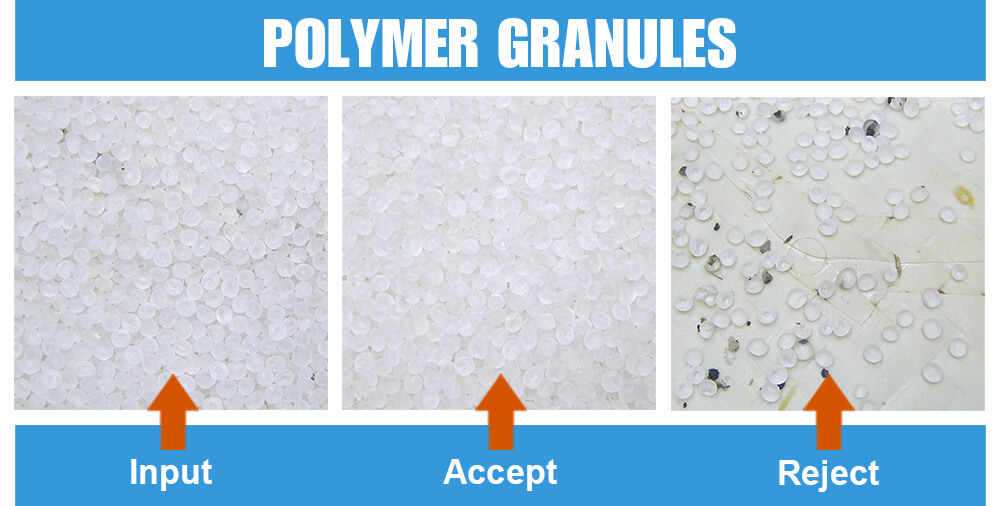 Sorted Sample Polymer Granuels